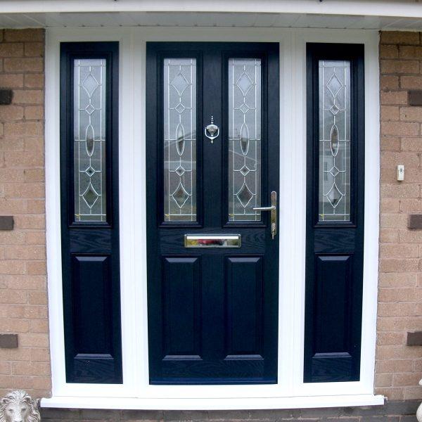 Black uPVC Panel Door