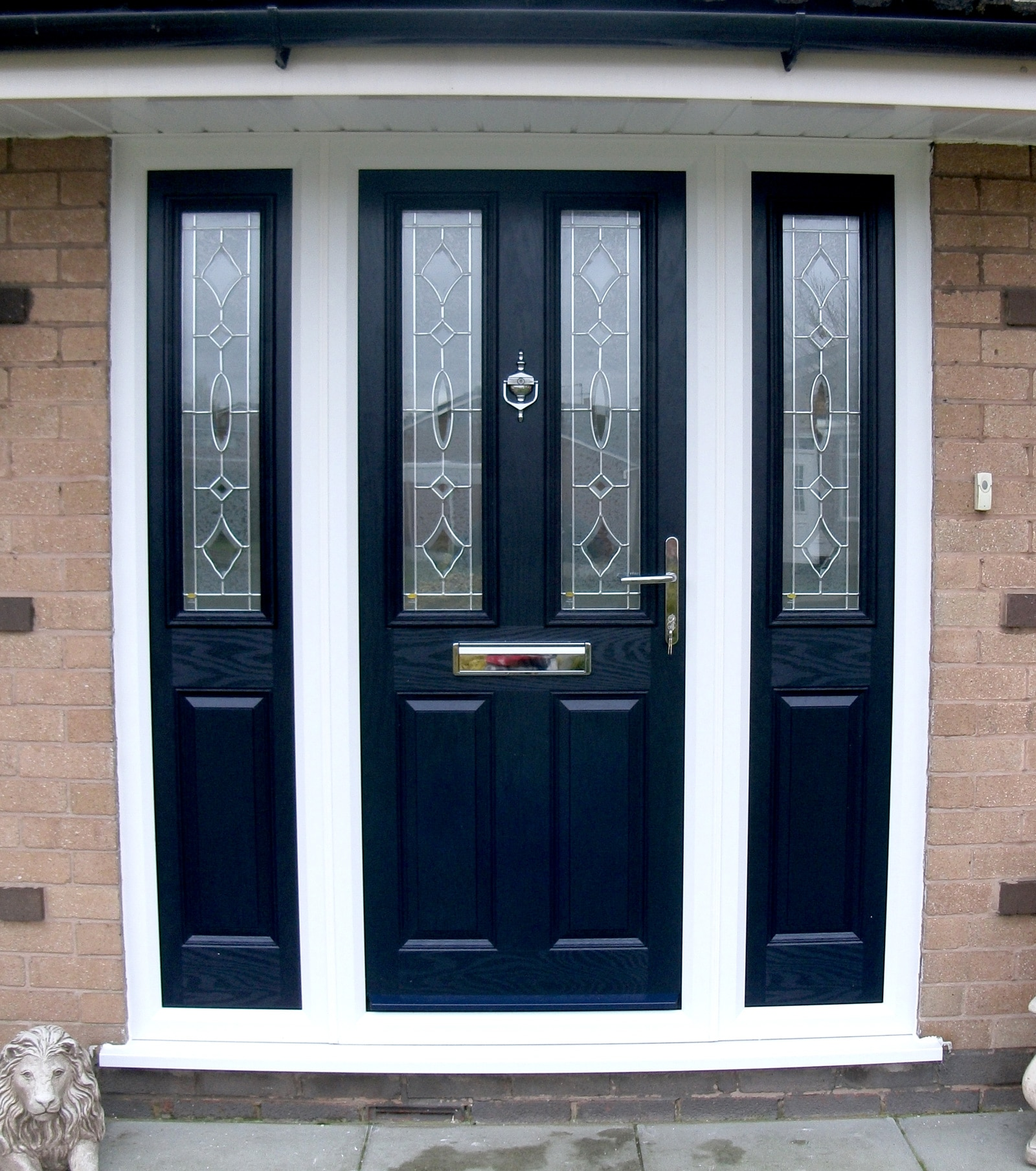Upvc doors exterior front back doors st helens windows for Exterior back door with window