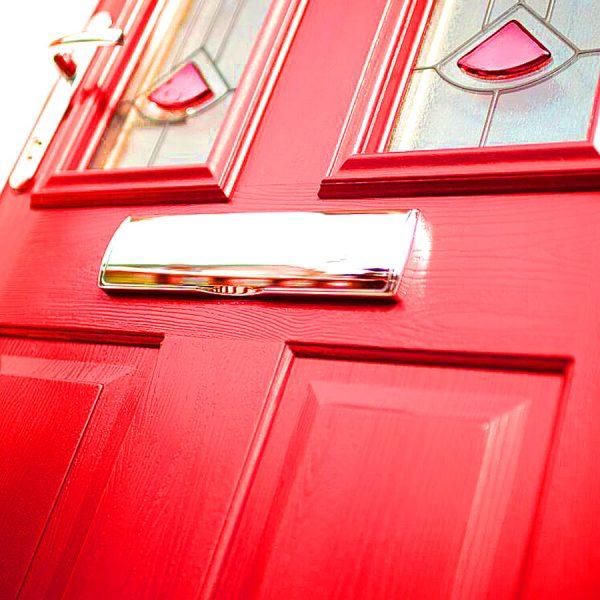 Red uPVC Panel Door