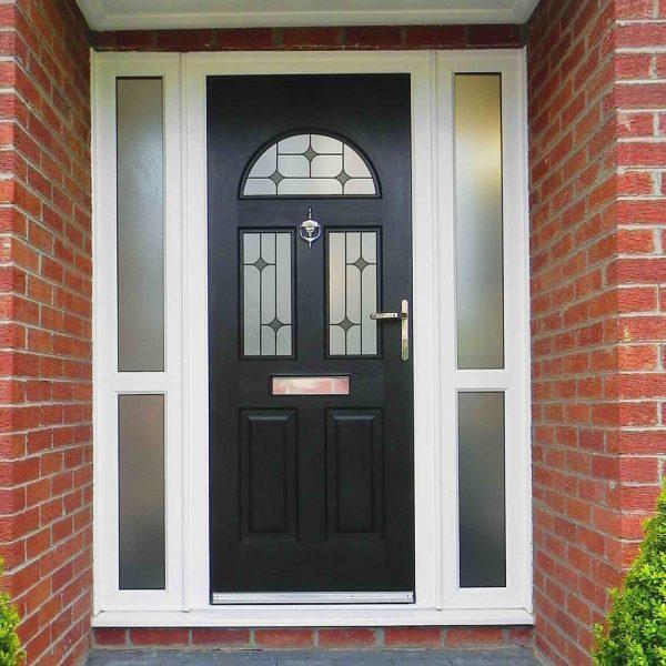 Two Window Black Composite Door