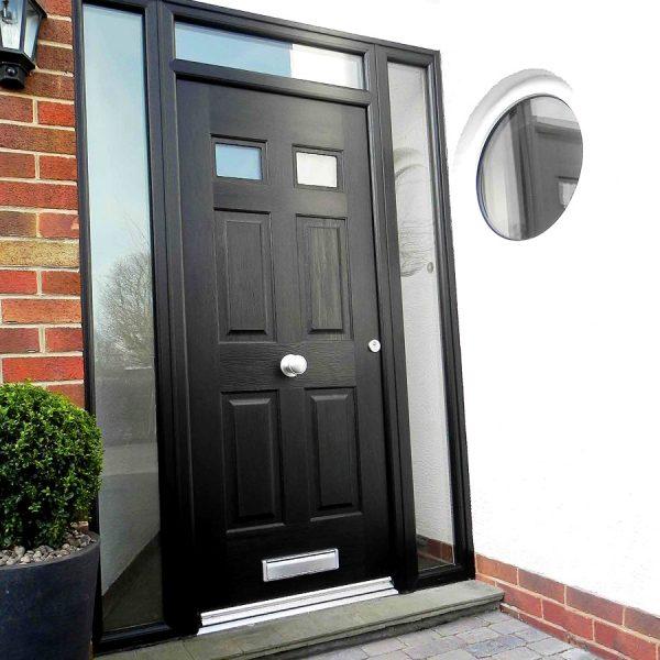 Black Three Panel Rock Door