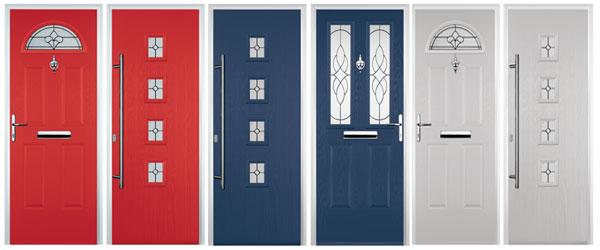 red door and white door