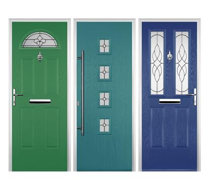 green door and blue door