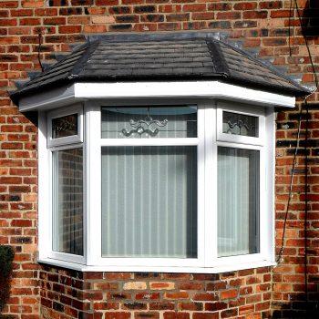 tiled roof on bay window