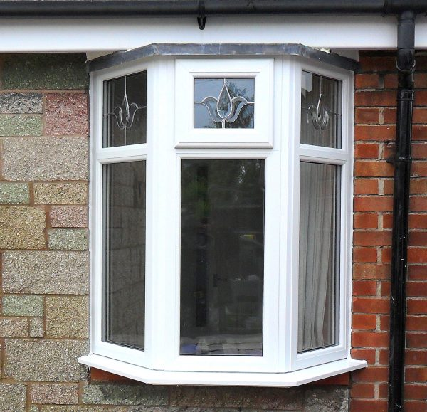 sealed Window white upvc bay window