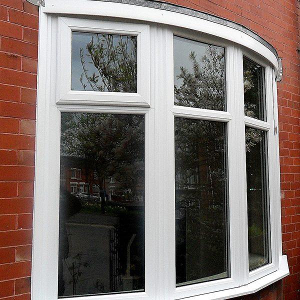 side angle of bay window