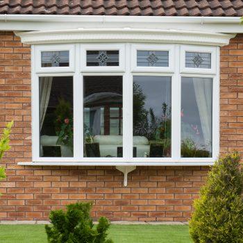 4 diamond glass design on bay window replacement