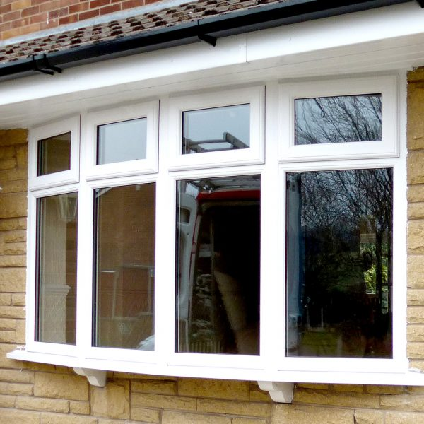large white bay PVCu