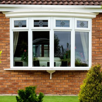 Bow Window with glass design