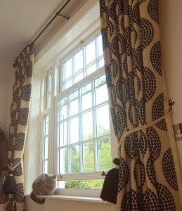 internal image of a white casement window