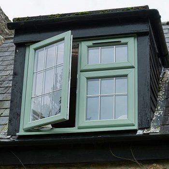 green windows half open
