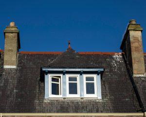 roof window box with upvc windows