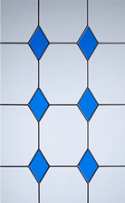 3 drop diamond blue