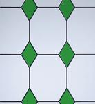 3 drop diamond green