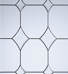 crystal diamond glass pattern