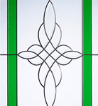 crystal harmony green glass pattern
