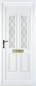 Rhodes white upvc door