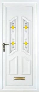 Stella white upvc door
