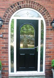 black arched composite door