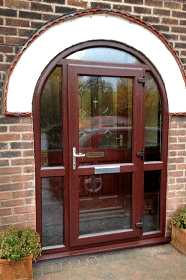 brown upvc arched door
