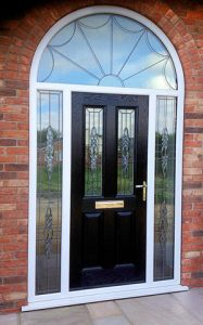 black arched door from st helens windows