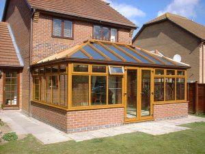 Light oak conservatory wood effect