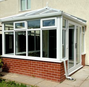 Edwardian conservatory with patio doors