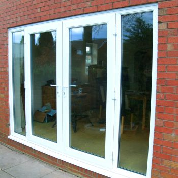 Aluminium French Window Doors in white