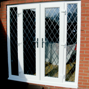upvc french doors with lead design