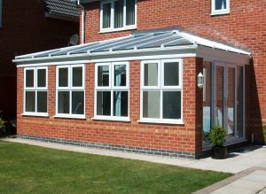 orangery red brick extension