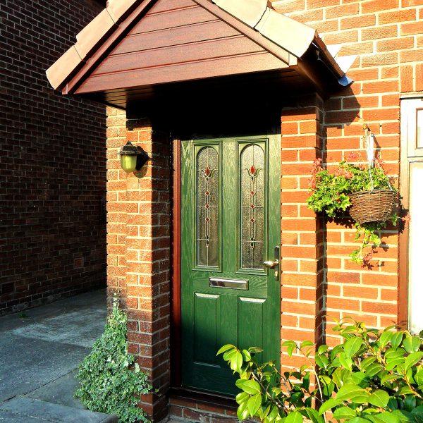 Green uPVC Door Panel