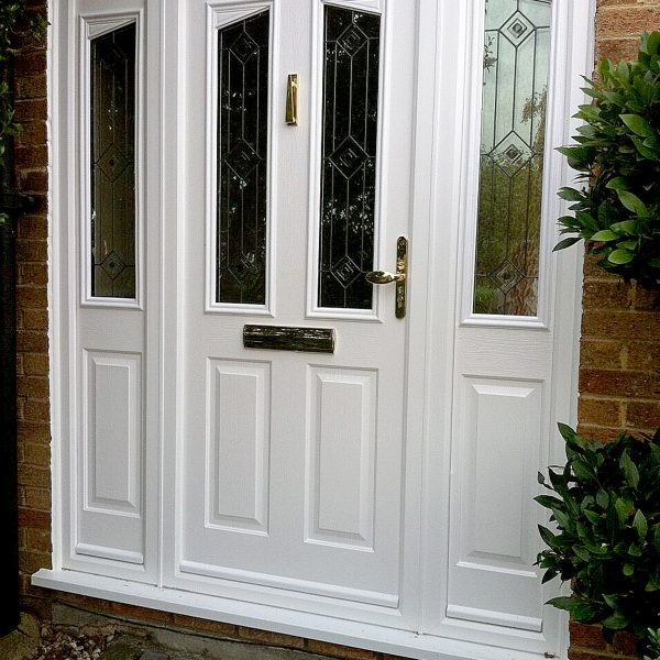 White uPVC Panel Door