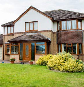 oak wooden upvc porch and full house of upvc windows and upvc door