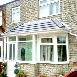 uPVC porches a large porch with upvc door and lightweight tiled roof