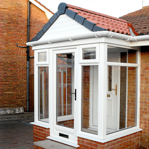uPVC porches a double glazed white upvc glass porch