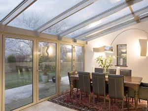 double glazed sloped conservatory roof