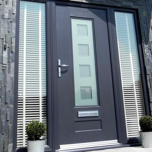 Double Panel dark grey Rock Door