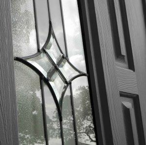 Glass design black composite RockDoor