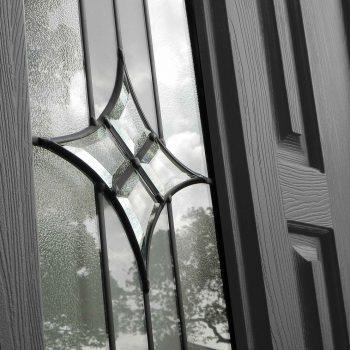 Glass design black composite RockDoors