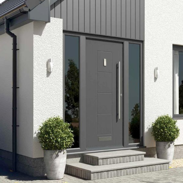 Matt Black Rock Door
