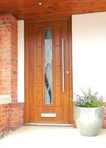 Single Mirror Wooden Rock Door