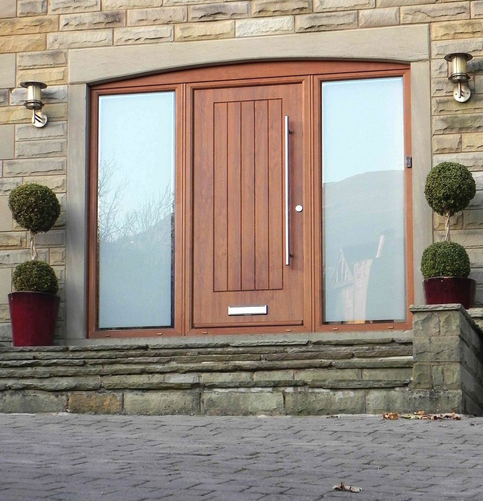 Double Glass brown RockDoor