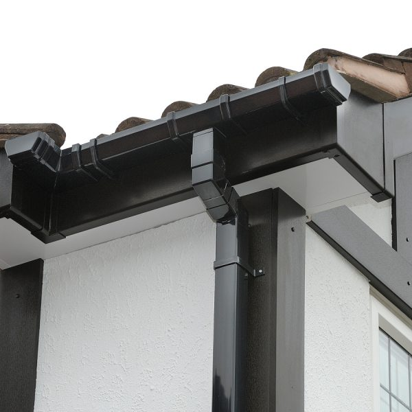Black uPVC roofline products