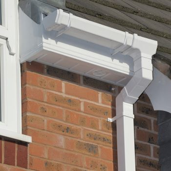 white uPVC square gutters