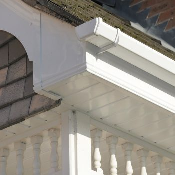 White uPVC fascias, soffits and gutters