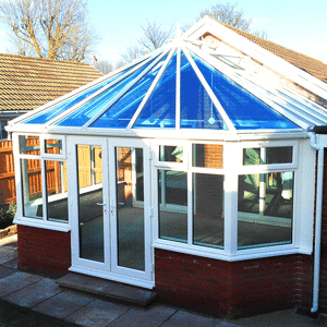 conservatory blue glass roof