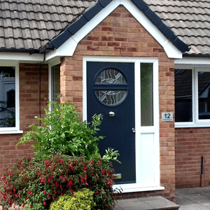 uPVC porches a small porch with composite door