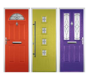 vibrant coloured composite doors