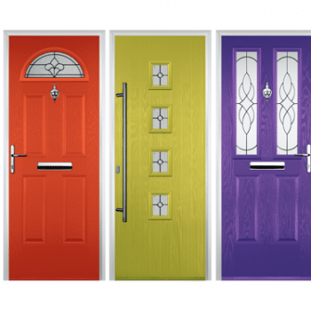 vibrant coloured composite doors