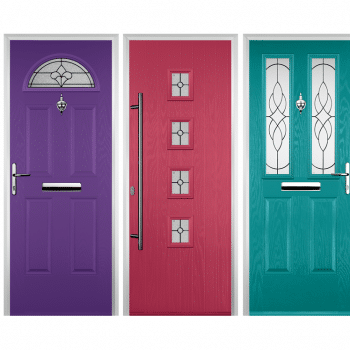 multiple coloured composite doors